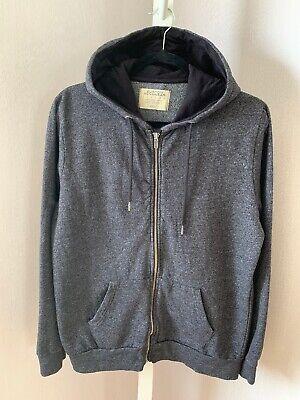 Burton Menswear London Charcoal Grey Hoodie Jacket Size Small