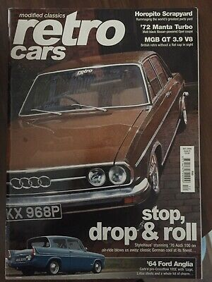 RETRO CARS MAGAZINE DECEMBER 2008 AUDI 100 MGB GT FORD ANGLIA OPEL MANTA RENAULT for sale  Shipping to South Africa