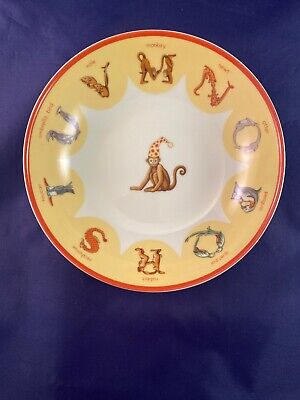 Tiffany Animal Alphabet Child's Bowl