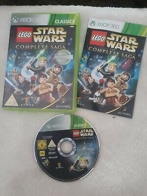 LEGO Star Wars: The Complete Saga (Xbox 360) Compilation with Manual