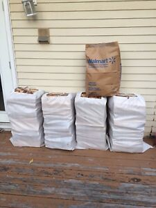 4 Huge 110lb Bags Dry Birch Firewood+Kindle+Free Delivery $140