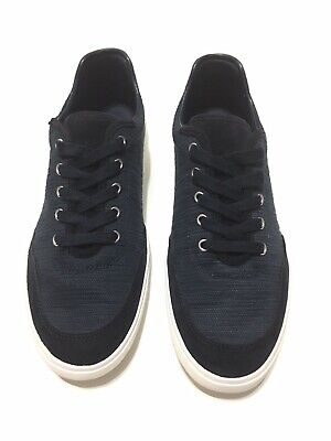 Zara Man sneaker Navy Canvas White Leather Shoes Size 41 casual lace up