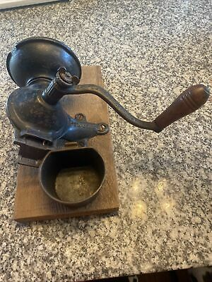 Antique Royal Cast Iron Coffee Grinder 1880 With Catch Cup