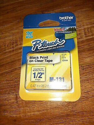 A M-131 Clear Tape For Brother P-touch 80 Label Maker