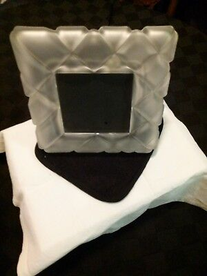 """Picture frames heavy glass frosted 4"""" x 4"""" photo"""