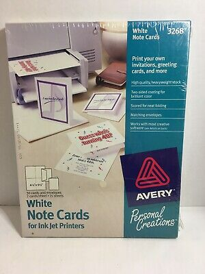 Avery Personal Creations White Note Cardsenvelopes 30ct For Ink Jet Printers