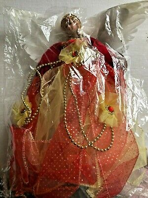 New Christmas tree topper Angel in red dress