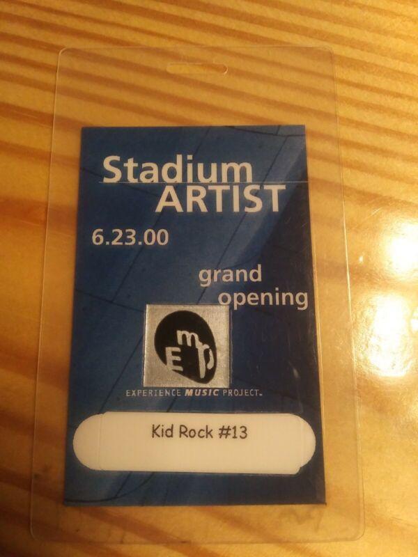 Kid Rock Personal Worn Artist Pass Backstage Pass Laminated MEGA RARE