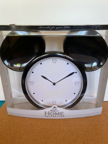 Disney Store Home Collection Mickey Mouse Head Wall Clock NIB