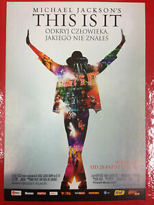 MICHAEL JACKSON - THIS IS IT - Polish promo FLYER - <span itemprop=availableAtOrFrom>Gdynia, Polska</span> - MICHAEL JACKSON - THIS IS IT - Polish promo FLYER - Gdynia, Polska