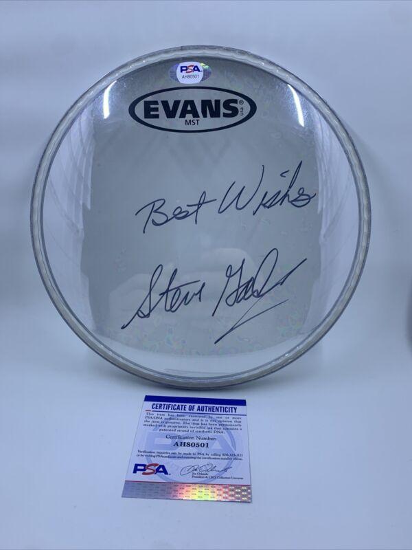 """Steve Gadd Signed 8"""" Drumhead PSA/DNA Steely Dan"""
