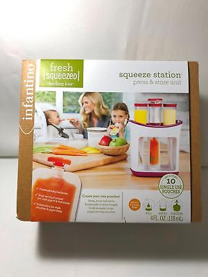 Infantino Fresh Squeezed Squeeze Station Press & Store Unit Baby Food Maker for sale  Shipping to India