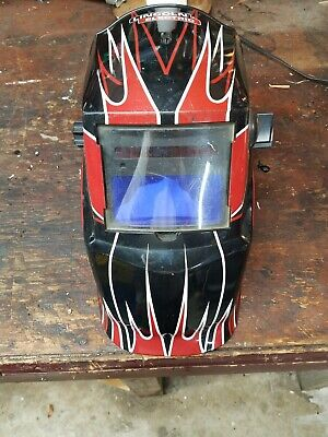 Lincoln Electric Red Fierce Variable-shade Auto-darkening Helmet