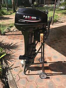 Parsun 15hp two stroke outboard motor - ALMOST NEW! North Ipswich Ipswich City Preview