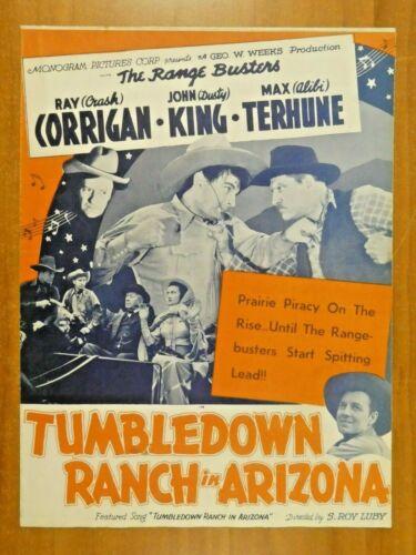 Tumbledown Ranch in Arizona Roy Corrigan John King 1941 Vintage Movie Press Book