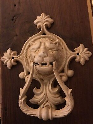 Lions Head Painted Cast Iron Door Knocker
