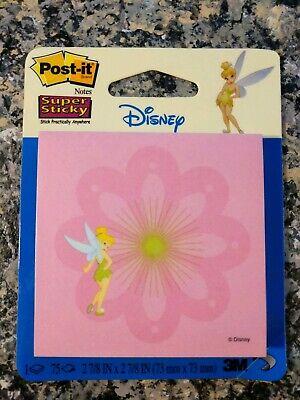 Post-it Notes Disney Tinkerbell 3m Super Sticky Adhesive Pink Bnip