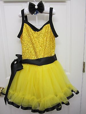 Ballerina Costume Girls Sz 8-9 Jazz Dancer Movie Star Diva Halloween Weissman MC](Movie Star Girls Costume)