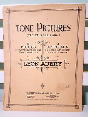 Tone Pictures - 9 Pieces - Introductory Grade! Sheet Music Book by Leon Aubry!