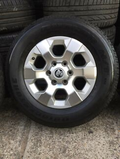 "4X Holden Colorado LTZ genuine 17"" wheels & Bridgestone tyres"