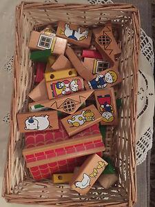 Basket of vintage blocks Myrtle Bank Unley Area Preview