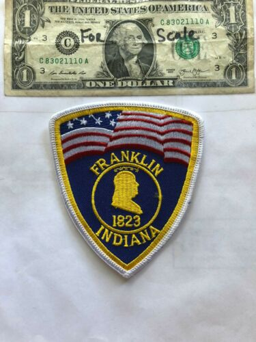 Rare Franklin Indiana Police Patch Un-sewn great shape