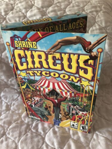 Computer Games - Shrine Circus Tycoon - Computer/PC Game  - New in box, Sealed - Worlds Greatest