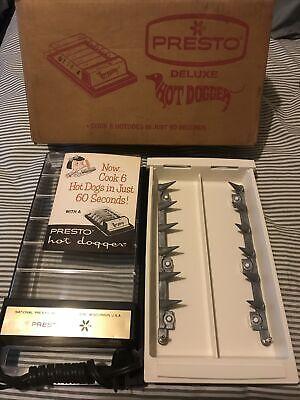 Vintage Presto DeLuxe Hot Dogger Hot Dog Cooker Original.