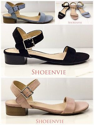 Side Buckle Sandal - New Women Refer Single Band Peep Toe Side Buckle Strap Comfort Heel Dress Sandal