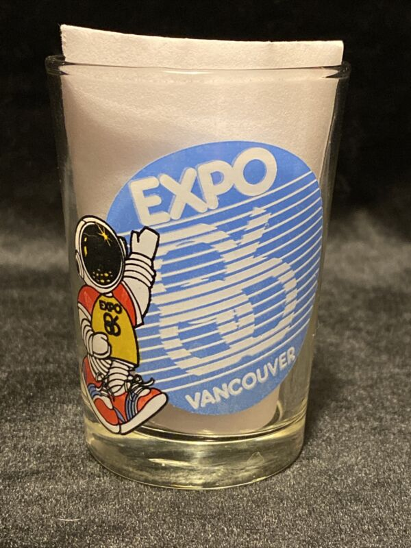 Expo 86 Vancouver Oversized Shot Glass - Vintage - Free Shipping!
