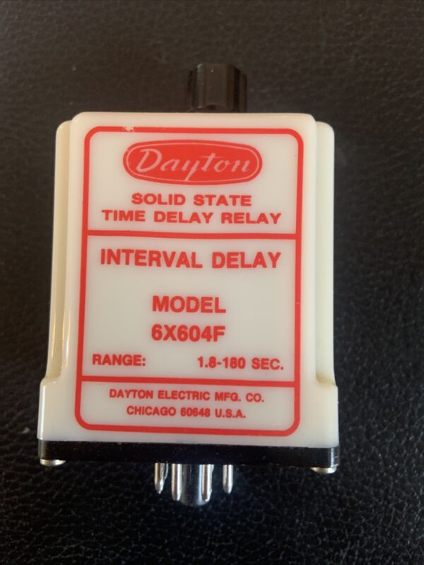 Dayton 6X604F Solid State Time Delay Relay 1.8-180 Sec.