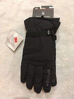 Spyder Marvel Overweb Gloves Ski Snowboarding Gloves,Size L,Black//Spiderman,NWT