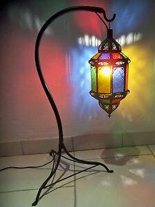 lampe sur pied marocaine fer forg lanterne lustre photophore d coration 80 cm ebay. Black Bedroom Furniture Sets. Home Design Ideas