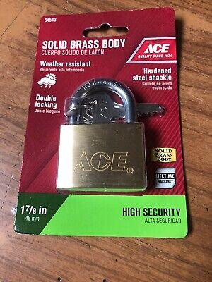 Solid Brass Body Ace Padlock