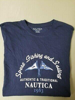 New Mens Nautica  Sport Fishing & Sailing Sleepwear Pajama top Shirt.