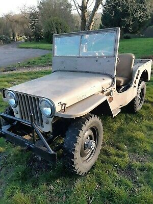 Willys jeep 1947 CJ2a classic car barn find military vehicle