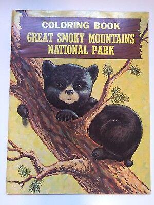VINTAGE GREAT SMOKY MOUNTAINS NATIONAL PARK SOUVENIR COLORING BOOK