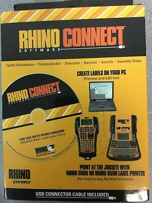 Dymo Rhino Connect Labeller Software Software Box Of 1 D1738636 New