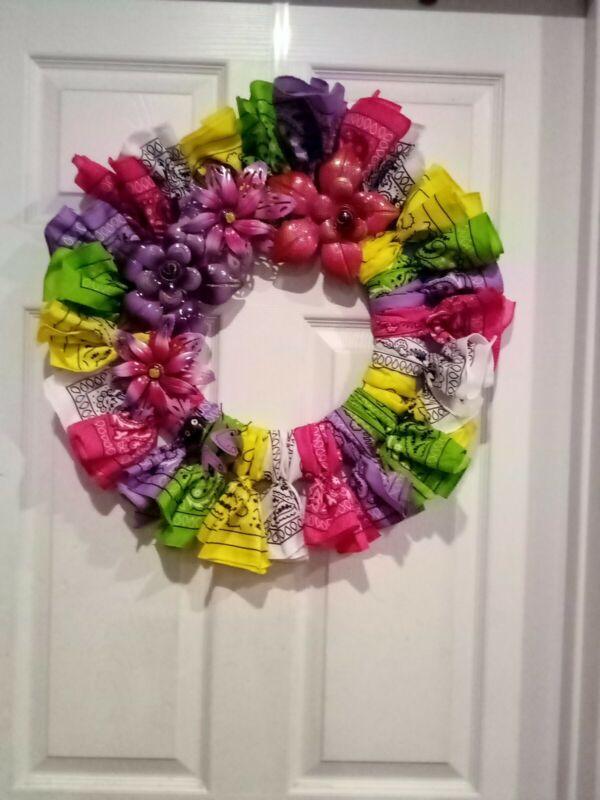 Summer wreath for front door.