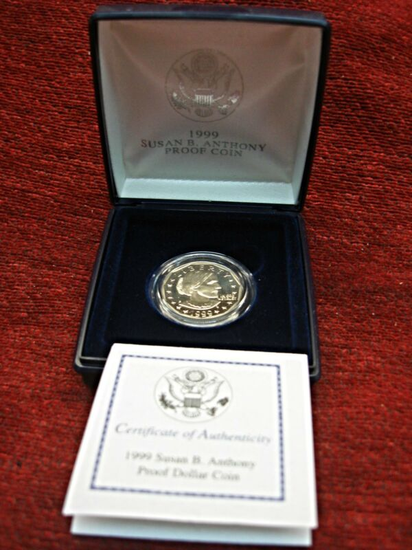 1999 P SUSAN B. ANTHONY DOLLAR PROOF W/ORIG. PKG. - NICE LAST YEAR MINT ISSUE