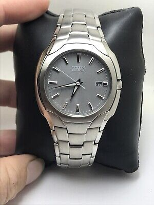 Citizen Eco Drive BM6010-55A Stainless Steel Grey Dial 180 Mens Date Watch-H24