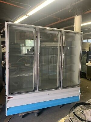 Howard Mccray Gf75lbm 3door Commercial Refrigerator Glass Door Merchandiser Used