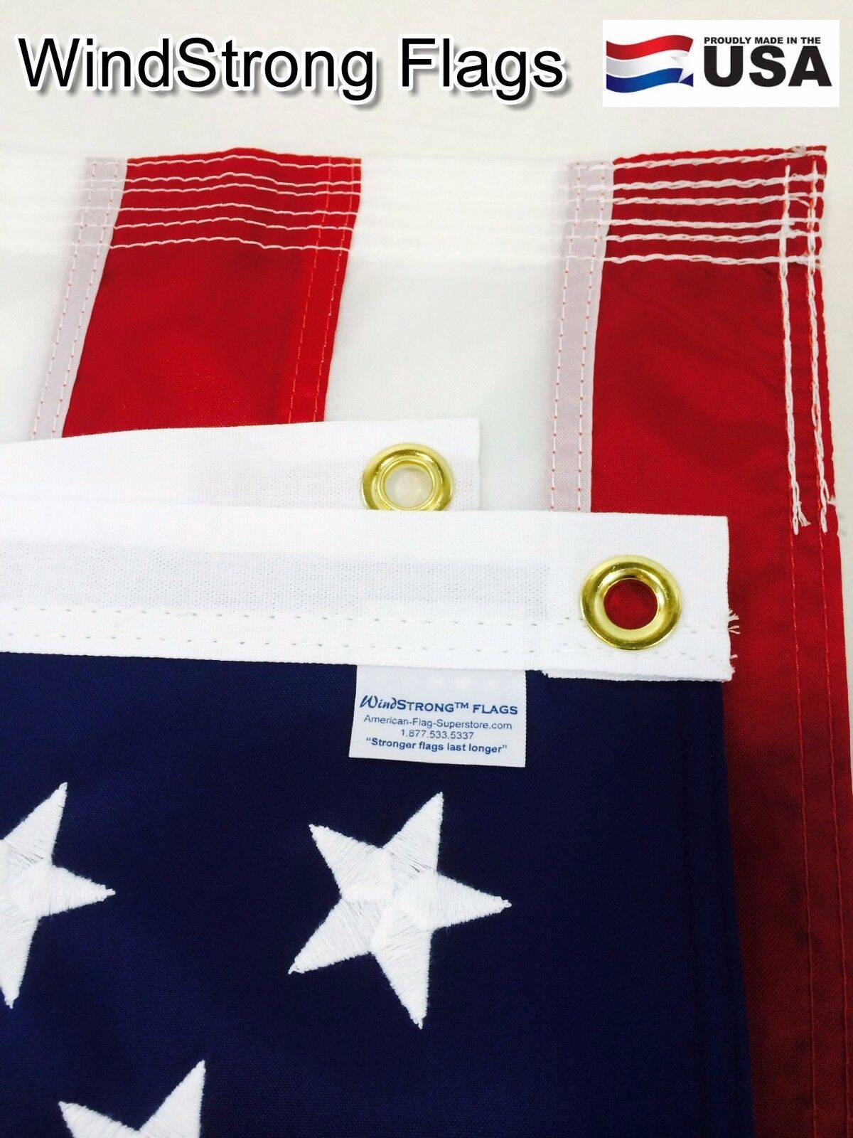 4x6 ft windstrong us american flag solarmax