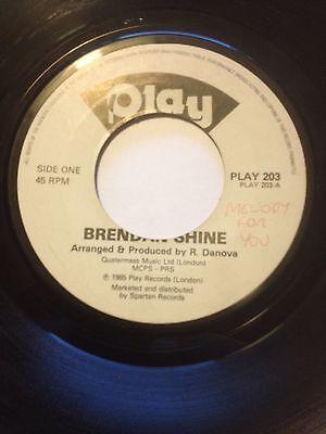 "BRENDAN SHINE 7"" MELODY FOR YOU / ACCORDION INSTRUMENTAL PLAY 203"