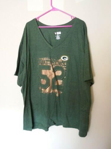 NWT - NFL Team Apparel - 4X - Green Bay Packers CLay Matthews - T Shirt