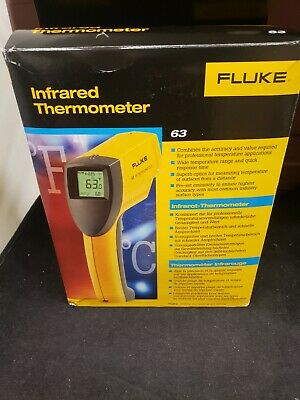 Fluke 63 Handheld Infrared Ir Thermometer -25 To 999f Range 121 Ratio