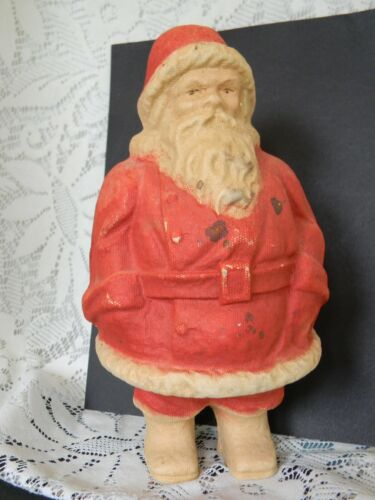 "10"" Vintage Santa Paper Mache Pulp Candy Container Number 2"