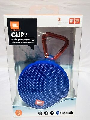 6JBL Clip 2 Waterproof Wireless Bluetooth Speaker-Blue Model :JBLCLIP2BLUAM comprar usado  Enviando para Brazil
