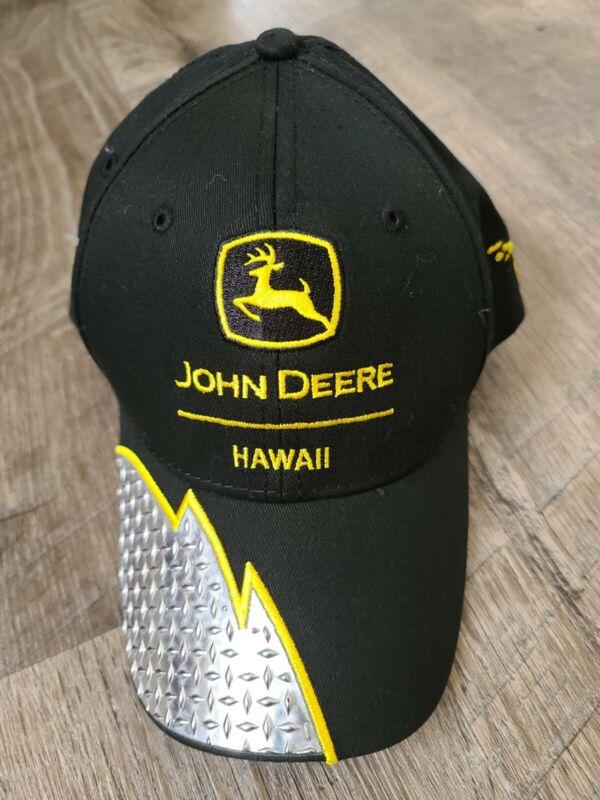 JOHN DEERE hawaii exclusive steel black construction equipment hat cap strapback
