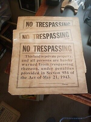 Signs - Vintage No Trespassing